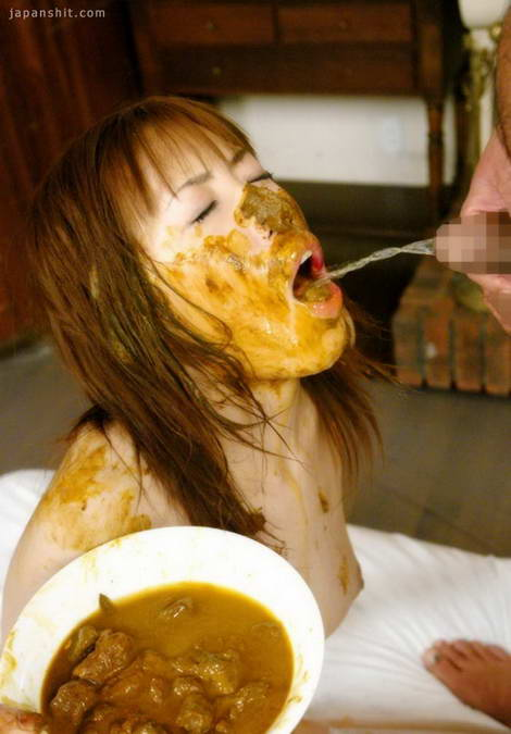 japanese girl eating shit
