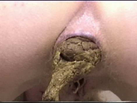 woman eating shit