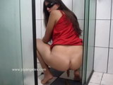 hot girl pooping on toilet