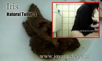 girls poop on toilet