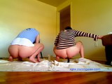 new college girls pooping