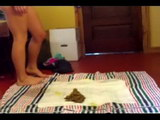 embarrassed girl poop video