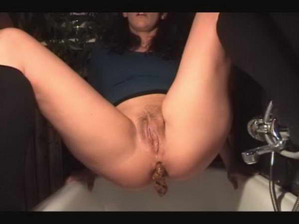 brown shower scat