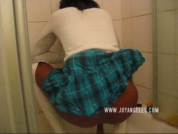 Sexy girl on toilet