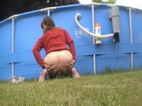 home video girls pooping