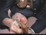 dominatrix shits in slaves mouth