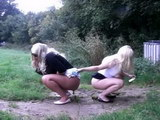 white girls pooping