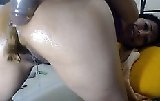 Shitty dildo in tasty ass