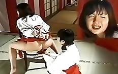 Japanese lesbian scat slave