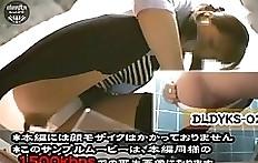 Floor toilet - voyeur Japanese scat
