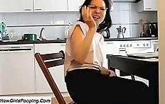 Amateur woman toilet diarrhea