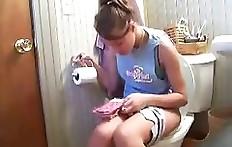 Teen Girl constipation toilet