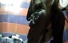Chick shit in toilet with a hidden camera