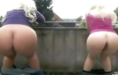Two big ass blondes shit together